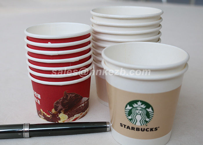 Small Disposable Paper Cups 4oz 115ml / Ice Cream Paper Cups For Birhdays Party