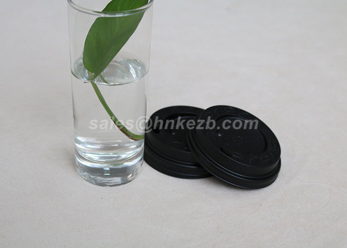 8oz Environmental Friendly Paper Coffee Cup Lid For Drinking Black / White Color