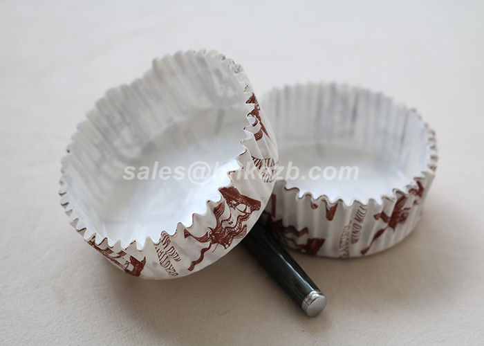 2oz Printed Ripple Kraft  Cupcake Baking Cups / Paper Ice Cream Bowls