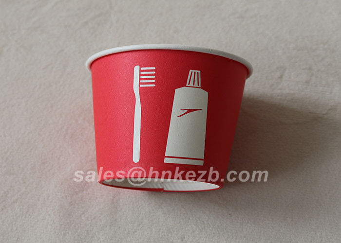 200ml Disposable Paper Snack Cups With Logo Print / Ripple Wall paper Cup