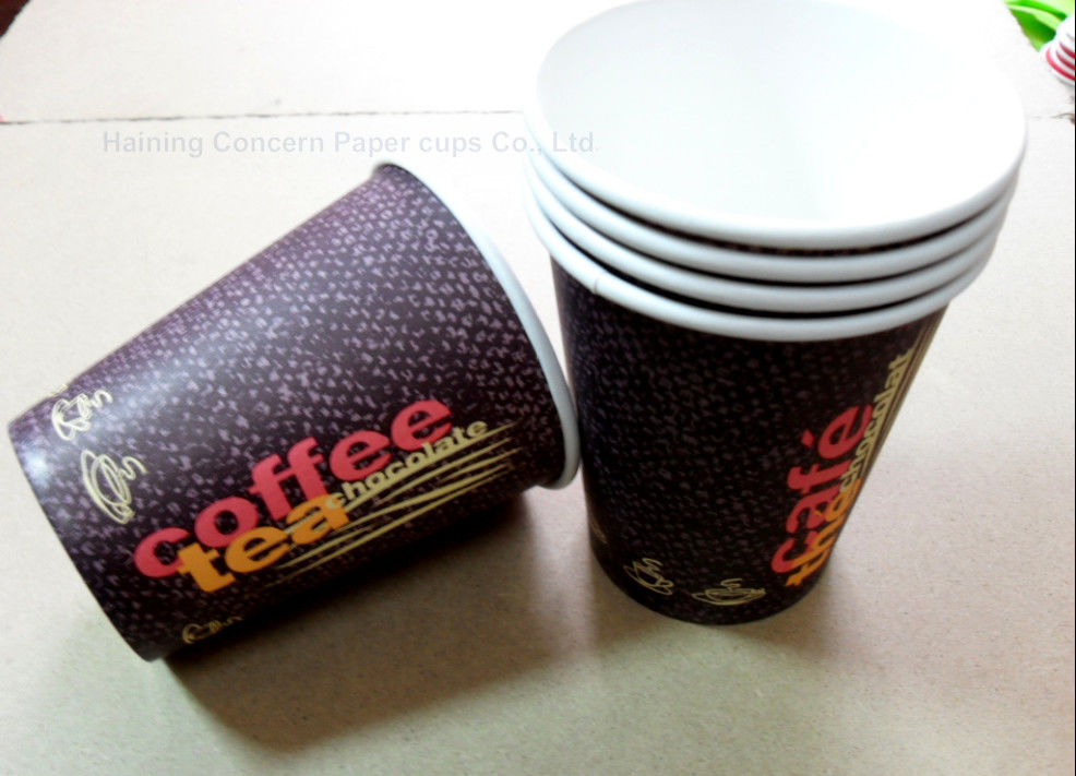 Different Sizes Takeaway Coffee Cups Disposable Insulated Paper Cups Customized Printing