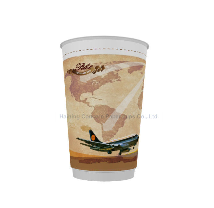 Double Wall Insulated Hot Drink Paper Cups Customized With Various Colours