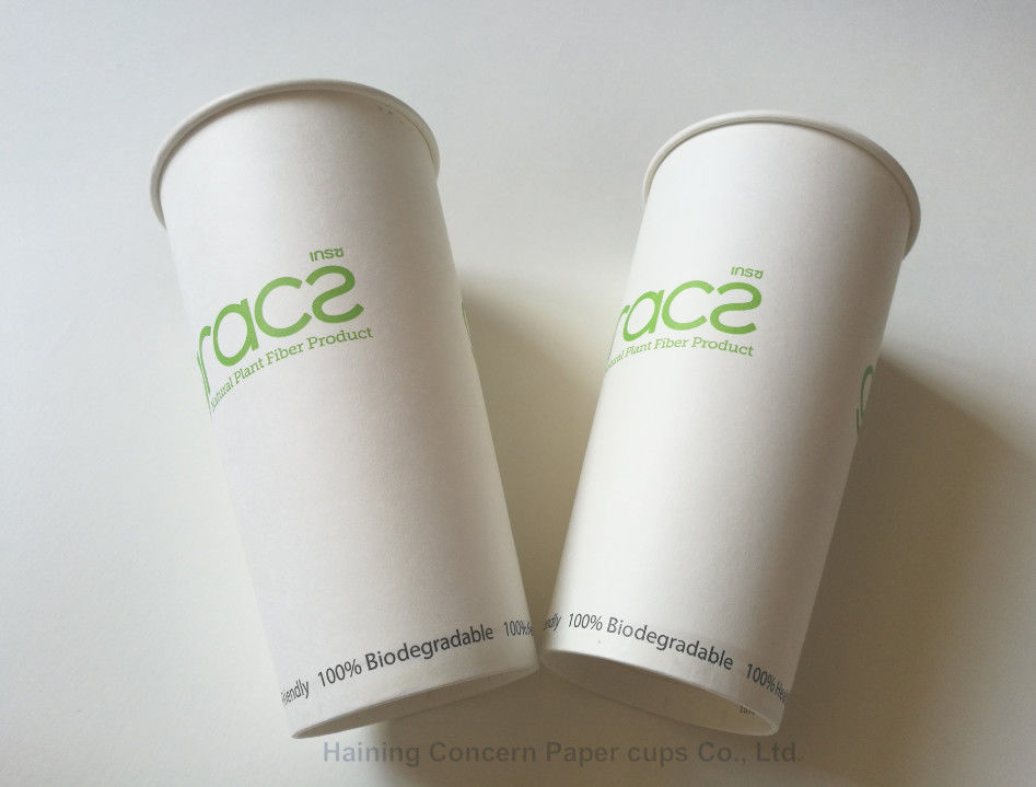 100% Biodegradable PLA Paper Cups / Eco Friendly Disposable Drinking Cups